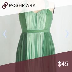"""Size 1x Green Dress Worn once for a few hours. It's been dry cleaned. Small snag in the back near zipper area not too noticeable. Sold on ModCloth as """"Refresh Your Fancy Dress"""" ModCloth Dresses"""