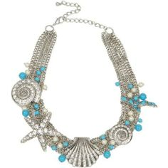 Heirloom Finds Glamorous Sea Life Shell and Star Fish Bib Necklace with Crystals, Faux Turquoise and Pearl Beads Heirloom Finds, http://www.amazon.com/dp/B0085Y77U4/ref=cm_sw_r_pi_dp_NsC.qb1J6E0CQ/189-6189516-4901843