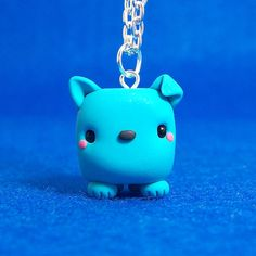 Chibi Dog Cube Necklace by hiyah on Etsy, $16.00