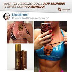 A diva Juju Salimeni usa Best Bronze para ficar com a cor do pecado. Sinta-se você também mais linda e admirada por todos!  Experimente: www.bestbronze.com.br
