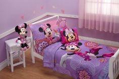 Disney 4 Piece Minnie's Fluttery Friends TODDLER Bedding Set Lavender Comforter