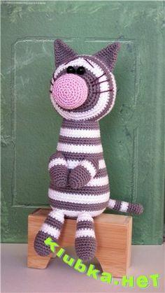 crochet cat., Free pattern