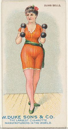 Dumb Bells, from the Gymnastic Exercises series (N77) for Duke brand cigarettes