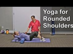 3 Yoga Exercises to Fix Rounded Shoulders Frozen Shoulder Exercises, Shoulder Workout, Scoliosis Exercises, Posture Exercises, Fix Rounded Shoulders, Tight Shoulders, Arms, Yoga For Stress Relief, Daily Exercise Routines