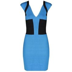 adeb01c2fc6f7 herve leger angled bandage dress blue for cheap