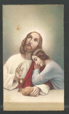 Holy card antique de Jesus santino image pieuse estampa