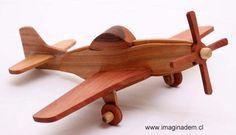Avion de madera Mustang P-15 Diy Wooden Toys Plans, Wooden Toy Cars, Handmade Wooden Toys, Wood Toys, Wooden Diy, Wooden Airplane, Wood Plane, Toy Bins, Easy Wood Projects