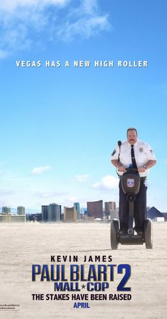 Paul Blart: Mall Cop 2, with Kevin James, Raini Rodriguez, Eduardo Verástegui, Daniella Alonso. Security guard Paul Blart is headed to Las Vegas to attend a Security Guard Expo with his teenage daughter Maya before she departs for college. While at the convention, he inadvertently discovers a heist - and it's up to Blart to apprehend the criminals.