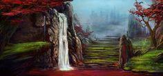 Waterfall by Kate-FoX on DeviantArt