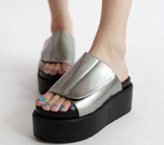 Patent Leather Flatforms Slippers on BuyTrends.com, only price $27.92