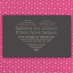 typographic wedding invite