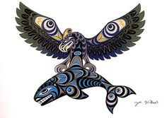 Coast Salish Thunderbird and Killer Whale Art Card- Joe Wilson