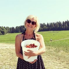Would you like to taste some? Finnish strawberries - sweetest in the world. Picked myself. Happy!  Could take someone to #instawalk in a strawberry field. Picking relaxing enjoying the sun and sharing the best experiences of Finnish nature. What do you think? @marjatila_juhmo @myllykylanmansikka