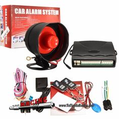 Kit Universal Alarma + Control Llaves KeyLess Coche + 2 Mandos Distancia + Sirena -- 30,29€