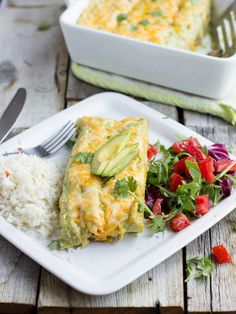 Carne Asada Enchiladas with Avocado Sauce