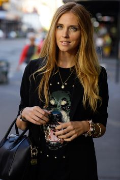 Our love for animal graphic tees just keeps growing stronger. Dress them up with a black blazer and gold accessories.