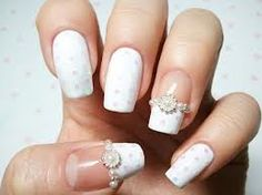 Latest Ideas For Bridal Nail Art & Wedding Nail Art Designs.Bridal is the most important person in any wedding and the latest fashion of every thing you can Nail Designs 2014, Bridal Nails Designs, Bridal Nail Art, White Nail Designs, Wedding Nails Design, Wedding Designs, Nail Design Rosa, Modern Nails, Nail Art Galleries