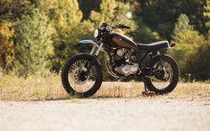 Download wallpapers Yamaha SR250 Exciter, 4k, 1980 bikes, retro bikes, bobber, Yamaha
