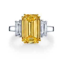 Fancy Intense Yellow Diamond Ring Diamond Rings, Naples Jewelery