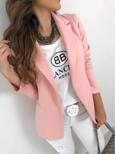 Blazer Outfits Casual, Blazer Outfits For Women, Simple Outfits, Classy Outfits, Stylish Outfits, Beautiful Outfits, Fashion Mumblr, Fashion Outfits, Fashion Ideas