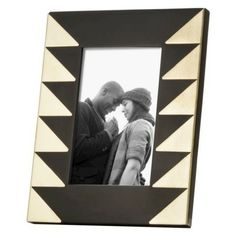 "Nate Berkus™ Chevron Photo Frame 4x6"" - Black/Gold"