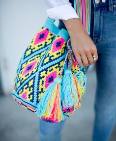"""New Cheap Bags. The location where building and construction meets style, beaded crochet is the act of using beads to decorate crocheted products. """"Crochet"""" is derived fro Fashion 2017, Latest Fashion Trends, Trendy Fashion, Winter Fashion, Urban Outfitters Heels, Chic Outfits, Fashion Outfits, Fashion Clothes, Mochila Crochet"""