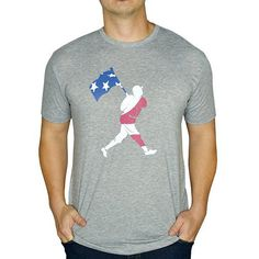 Baseballism Men's Flag Man Freedom T-Shirt FREEDOM