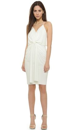 Tbags Los Angeles Knee Length Dress With Knot Detail $180