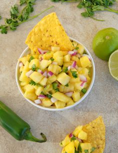 Pineapple Salsa  I need to try this for sure