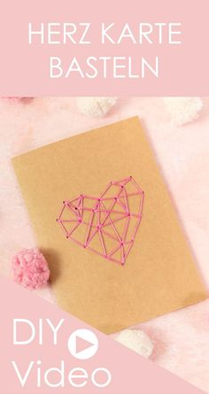 Karte zum Valentinstag basteln und mit einem geometrischen Herz besticken - DIY Geschenk zum Valentinstag #valentinstag #karte #sticken Inspire Others, Valentines Day, Diy And Crafts, Cross Stitch, German, Inspiration, Texture, Paper Mill, Jewelry Making