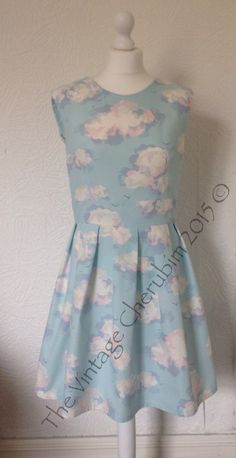 A personal favourite from my Etsy shop https://www.etsy.com/listing/231084314/blue-skies-dress