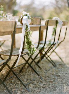 elegant & organic wedding chair decor
