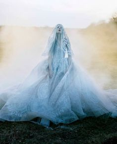 candentia: Kristen McMenamy by Tim Walker Dress and veil: Elie Saab Haute Couture S/S 2013 The Sunday Times Style September 2013 Richard Avedon, Editorial Photography, Art Photography, Fashion Photography, Jean Paul Goude, Tim Walker Photography, Foto Art, Snow Queen, Dior Couture