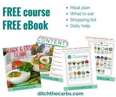 Join the FREE 1 week low carb challenge. FREE eBook, FREE eCourse, meal plan, shopping list, daily tips. | ditchthecarbs.com