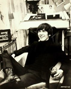George Harrison (Source- http://johnandpaulinlove.tumblr.com/post/20258105668)
