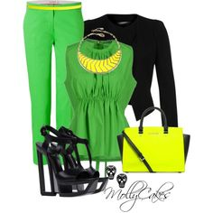 Jamaican Flag Inspired Outfit by mollycakes on Polyvore featuring Marni, Plein Sud, Etro, Casadei, Michael Kors, Amrita Singh, ASOS, neon, loose shirts and top handle bags