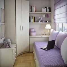 habitación para adolescente muy pequeña y elegante