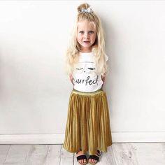 2017 Toddler Kids Clothing for Girl Princess pleuche pleated skirt Wedding Party Kids Tulle Tutu Pleated Skirt
