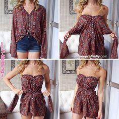 Diy shirt 326018460516532501 - como-transformar-camisa-vestido Source by sewDIYrefashion Diy Clothes Hacks, Diy Clothes Refashion, Clothing Hacks, Thrift Store Diy Clothes, Refashion Dress, Thrift Shop Outfit, Thrift Store Refashion, Revamp Clothes, Diy Summer Clothes