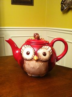 ~ For A Spot of Tea.I also like the color of the wall Teapot Cookies, Tea Blog, Teapots Unique, Pottery Teapots, Tea Pot Set, Teapots And Cups, Mad Hatter Tea, Tea Art, My Cup Of Tea
