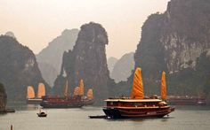 I've ridden a junk boat through beautiful rock formations and floating villages in Halong Bay, Vietnam