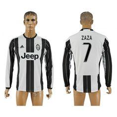Juventus 16-17 #Zaza 7 Hjemmebanetrøje Lange ærmer,245,14KR,shirtshopservice@gmail.com