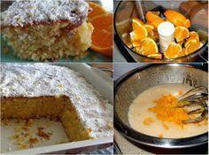 Πορτοκάλι κέικ !!Το πιό μοσχομυριστό!!!Είναι πραγματικά ΥΠΕΡΟΧΟ με άρωμα από φρέσκα πορτοκάλια που παραμένει υγρό μέσα και κατά το ψήσιμο !!! | Diavolnews.gr Greek Sweets, Greek Desserts, Greek Recipes, Fun Desserts, Loaf Recipes, Sweet Loaf Recipe, Greek Cake, Pastry Cook, Cooking Cake
