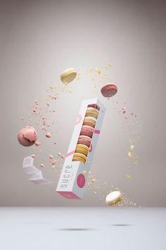 Feminine Confectionary Branding : Cute Macaron Packaging