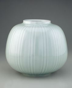 1991 by Sagawa Iwao (Japanese, born 1933) Heisei era. Porcelain with green glaze, H: 28 W: 32 D: 32 cm. Tobe Town, Japan. Gift of the Japan Foundation S1993.19 Freer Sackler