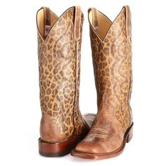 How cute!!! BootDaddy Collection with Anderson Bean Tan Jungle Leopard Cowgirl Boots All Womens Western Boots