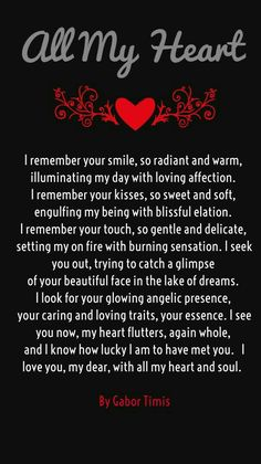 Love poems are perfect gift to inspire your girlfriend. boyfriend or your spouse. Mostly people share romantic poems and quotes on valentine's day but it is Cute Love Quotes, Soulmate Love Quotes, Love Husband Quotes, Bae Quotes, Inspirational Quotes About Love, Qoutes, Girlfriend Quotes, Status Quotes, Crush Quotes