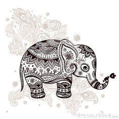 Ilustração étnica do elefante
