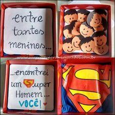 caixa super homem Presents For Boyfriend, Boyfriend Gifts, Diy Arts And Crafts, Diy Crafts, True Love, My Love, My Future Boyfriend, Valentine's Day Diy, Gifts For Him