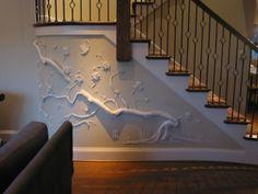 Wandbilder Basic Tips For Creating Drywall/Joint Compound Art. Plaster Sculpture, Plaster Art, Plaster Walls, Wall Sculptures, Tree Sculpture, Metal Tree Wall Art, Diy Wall Art, Diy Art, Wall Decor